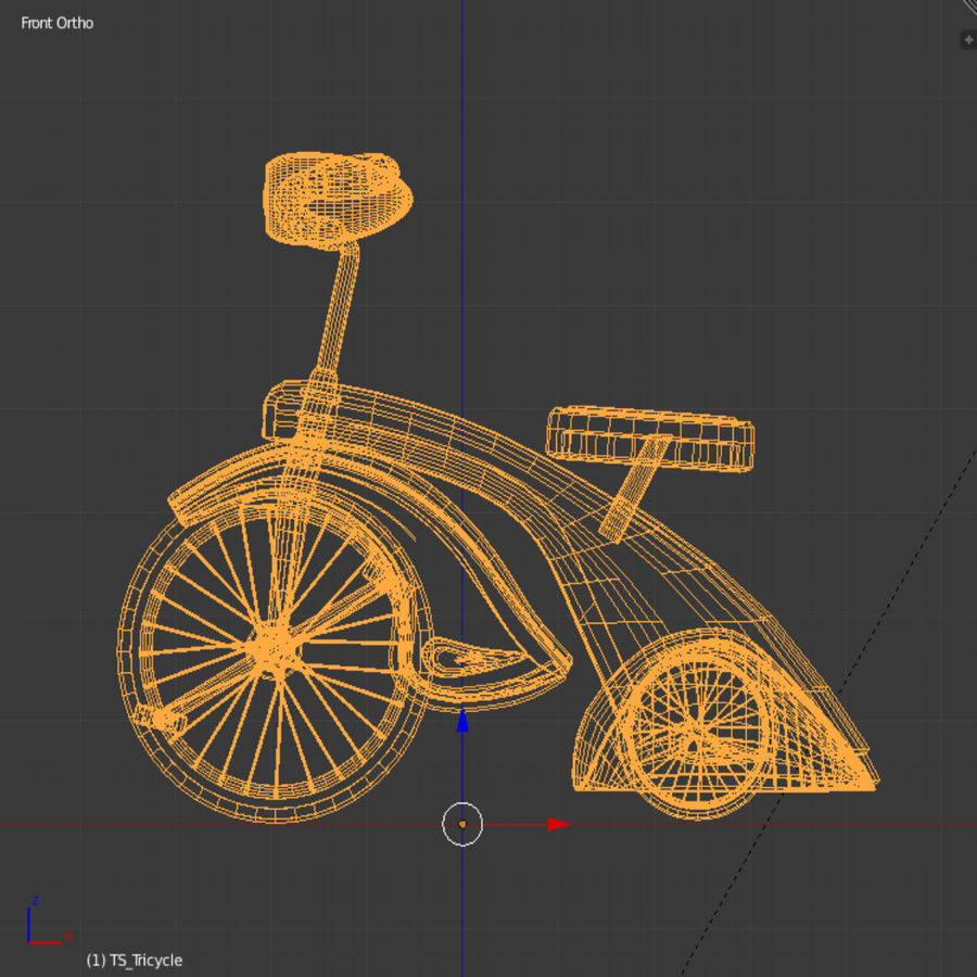 Retro Tricycle royalty-free 3d model - Preview no. 6