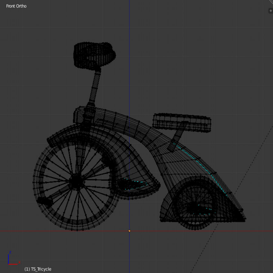 Retro Tricycle royalty-free 3d model - Preview no. 8
