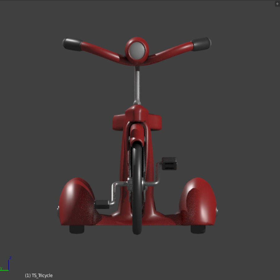 Retro Tricycle royalty-free 3d model - Preview no. 2