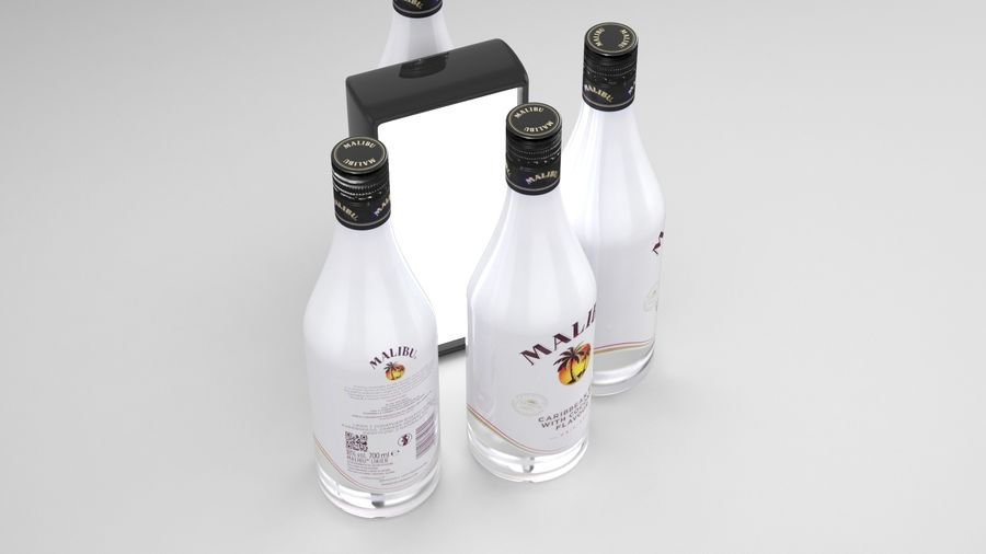 Malibu Caribbean Rum 700ml royalty-free 3d model - Preview no. 4
