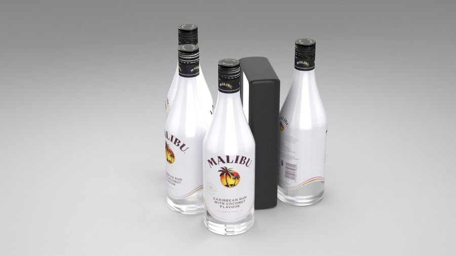 Malibu Caribbean Rum 700ml royalty-free 3d model - Preview no. 6