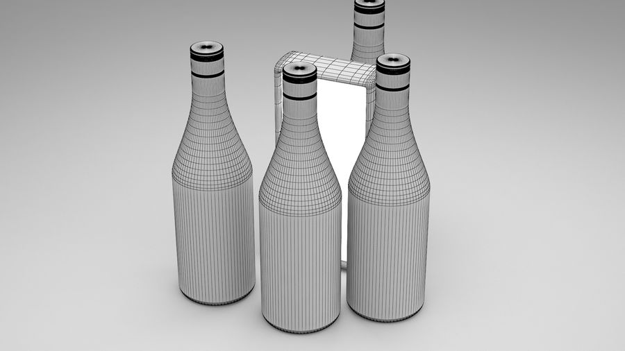 Malibu Caribbean Rum 700ml royalty-free 3d model - Preview no. 12