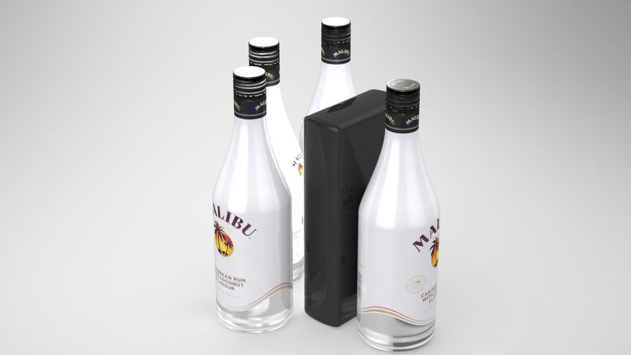 Malibu Caribbean Rum 700ml royalty-free 3d model - Preview no. 7