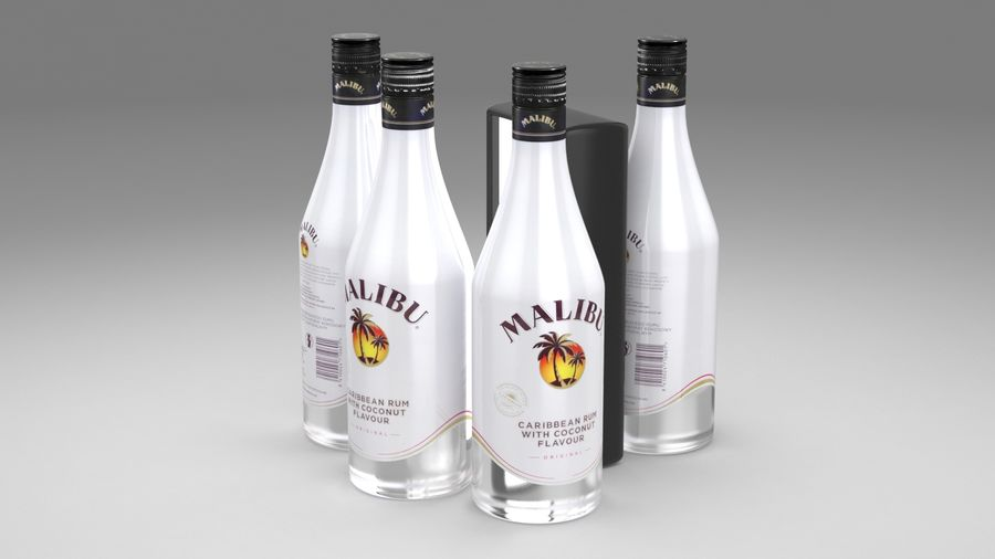 Malibu Caribbean Rum 700ml royalty-free 3d model - Preview no. 11