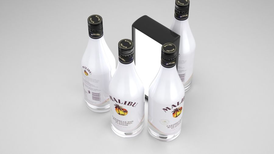 Malibu Caribbean Rum 700ml royalty-free 3d model - Preview no. 5