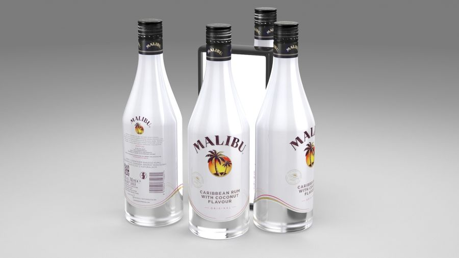 Malibu Caribbean Rum 700ml royalty-free 3d model - Preview no. 10