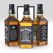 Jack Daniels Bourbon Viski 700ml Şişe 3d model