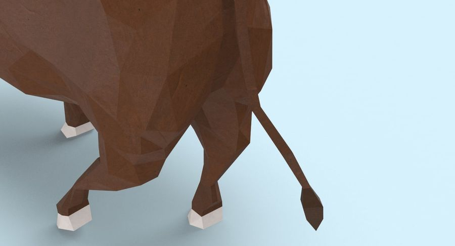Bull Brown uitgevoerd royalty-free 3d model - Preview no. 10