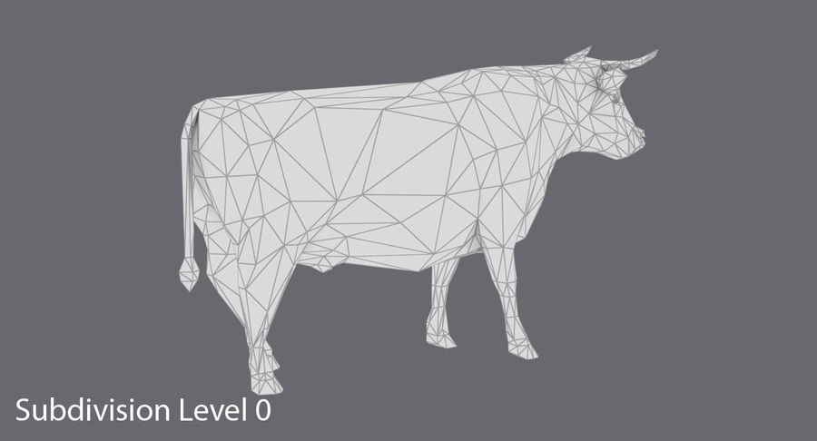 Bull Black Standing royalty-free 3d model - Preview no. 14