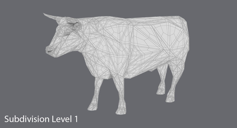 Bull Black Standing royalty-free 3d model - Preview no. 15