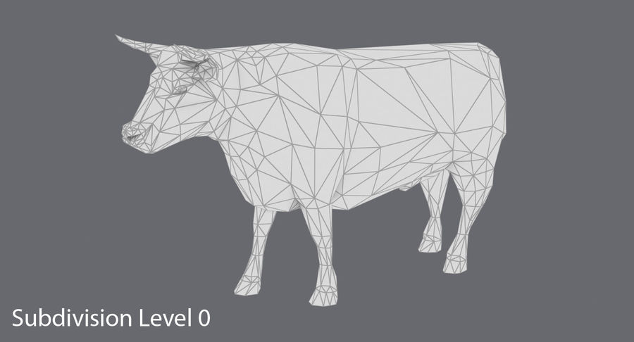 Bull Black Standing royalty-free 3d model - Preview no. 12