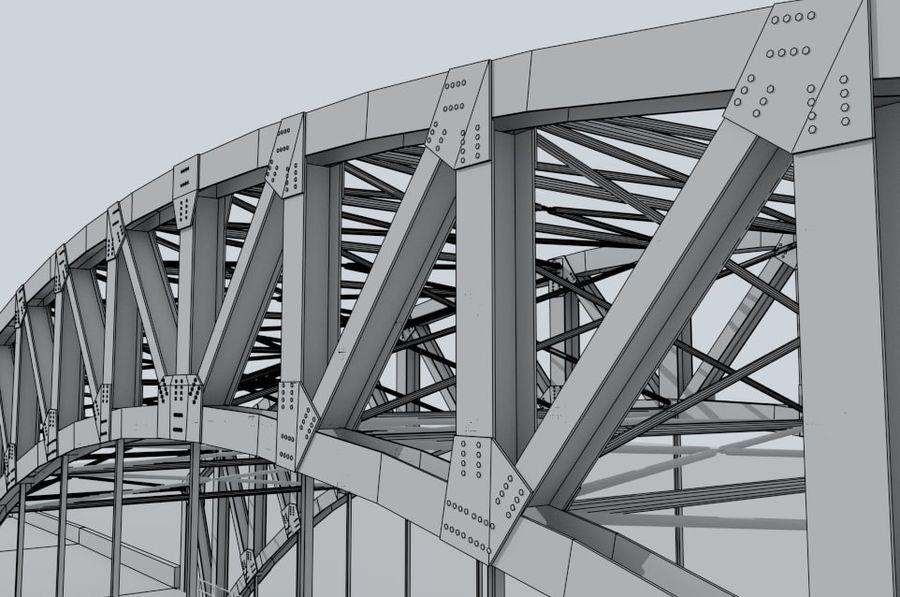 Road bridge royalty-free 3d model - Preview no. 9