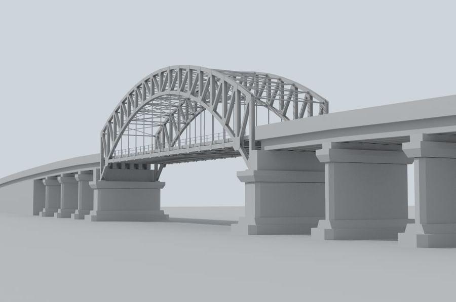 Road bridge royalty-free 3d model - Preview no. 2