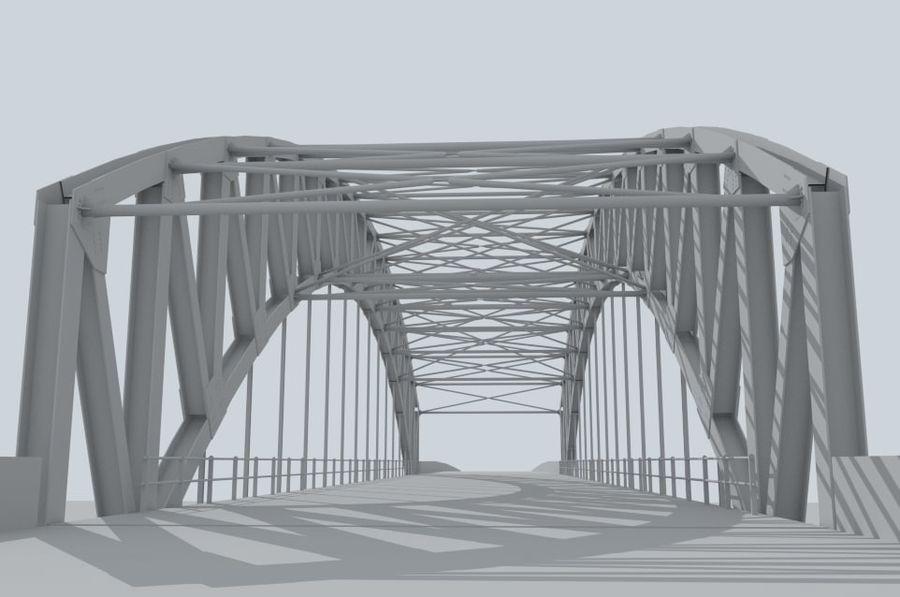 Road bridge royalty-free 3d model - Preview no. 4