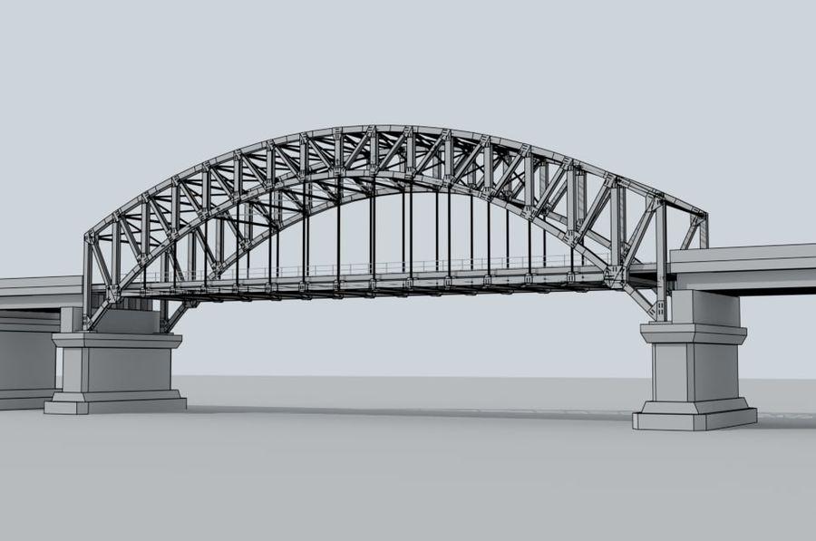 Road bridge royalty-free 3d model - Preview no. 10