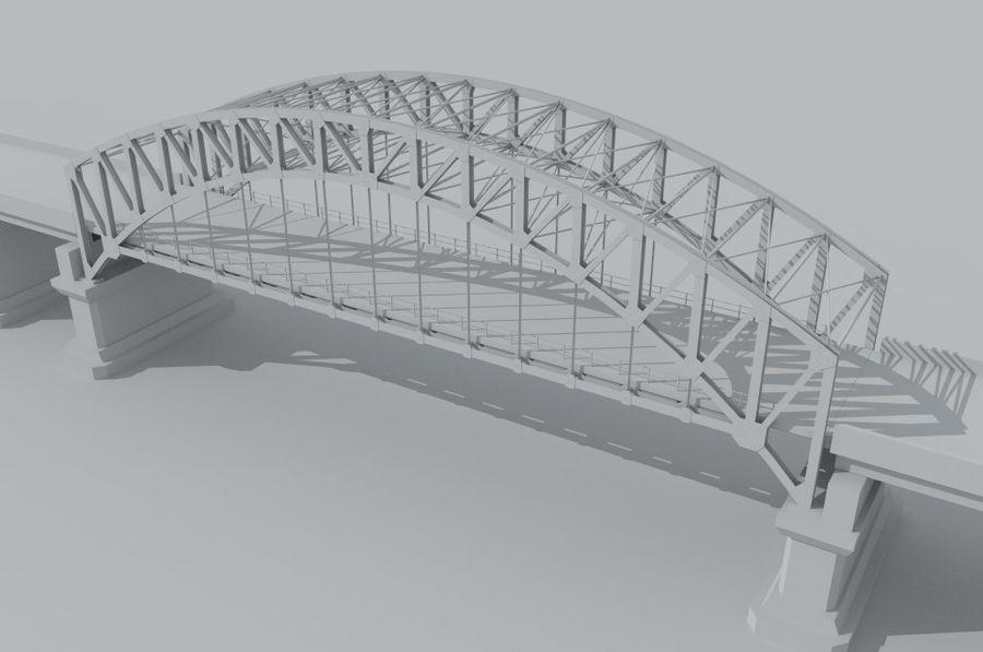 Road bridge royalty-free 3d model - Preview no. 6