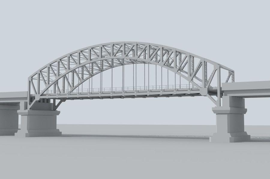 Road bridge royalty-free 3d model - Preview no. 3