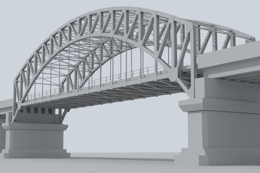 Road bridge royalty-free 3d model - Preview no. 1