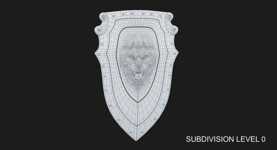 Kite Shield A royalty-free 3d model - Preview no. 20