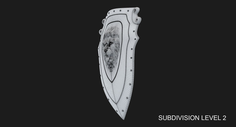 Kite Shield A royalty-free 3d model - Preview no. 23