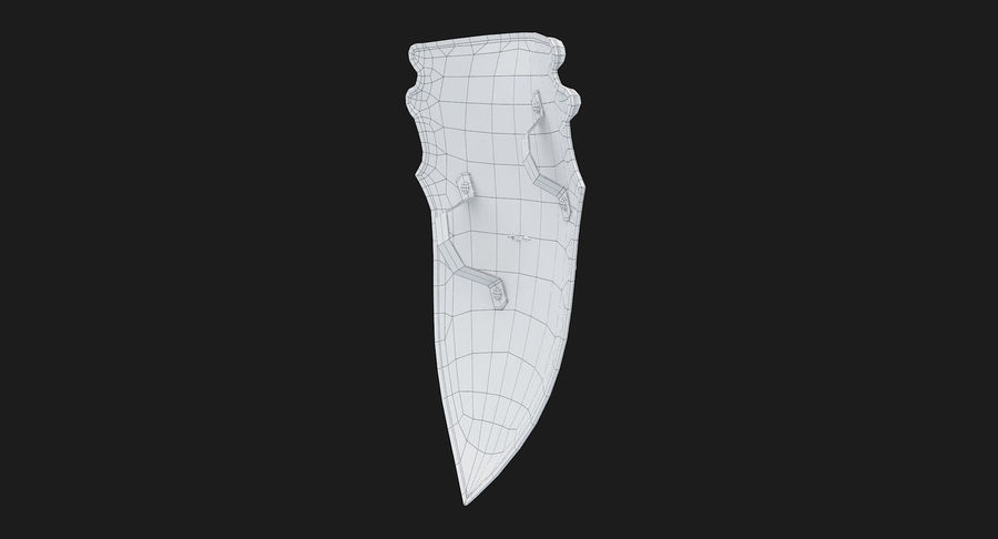 Kite Shield A royalty-free 3d model - Preview no. 28