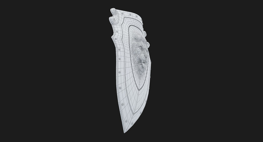 Kite Shield A royalty-free 3d model - Preview no. 30
