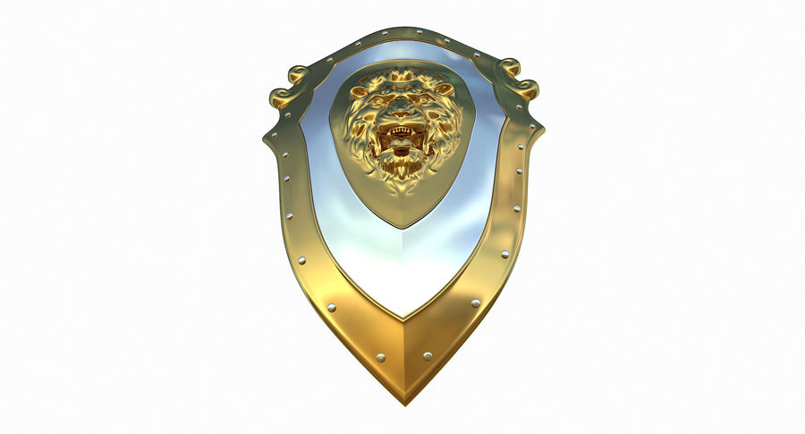 Kite Shield A royalty-free 3d model - Preview no. 11