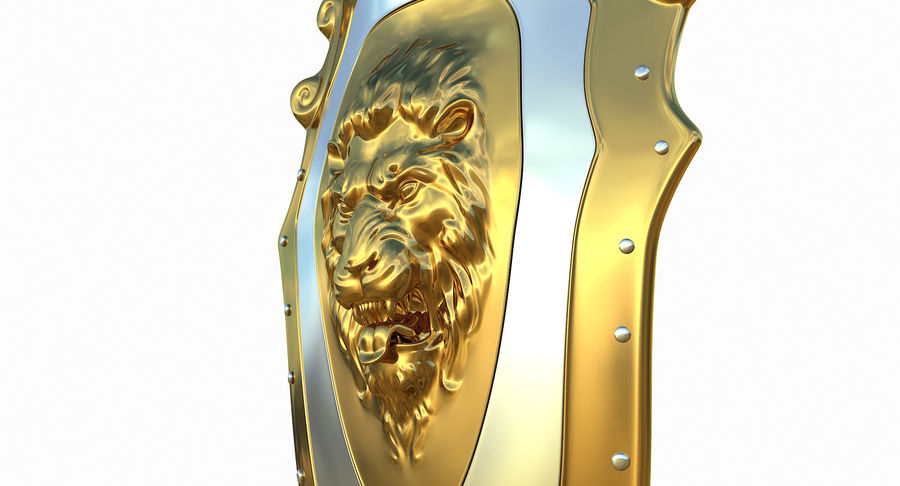 Kite Shield A royalty-free 3d model - Preview no. 13