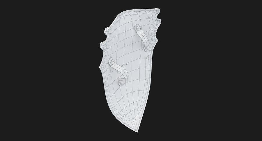 Kite Shield A royalty-free 3d model - Preview no. 25