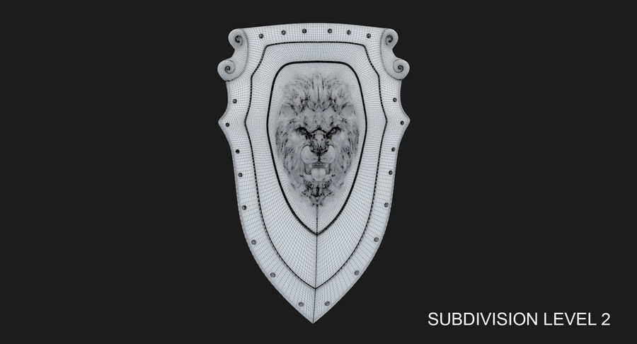 Kite Shield A royalty-free 3d model - Preview no. 21