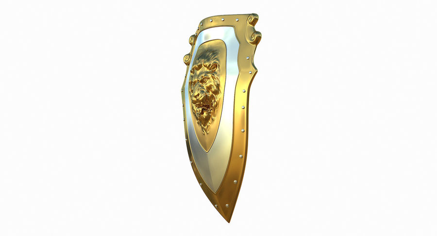 Kite Shield A royalty-free 3d model - Preview no. 4