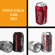 Coca-Cola Can Set 3d model