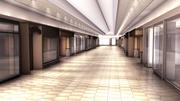Scena w centrum handlowym - wewnątrz 3d model