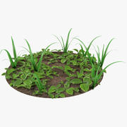 Grass Mix on Ground 3d model