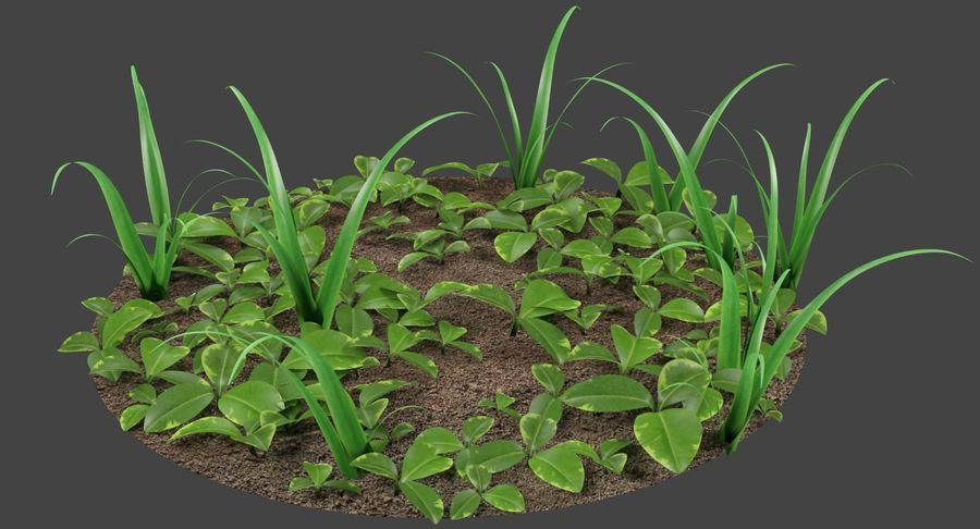Mezcla de hierba en el suelo royalty-free modelo 3d - Preview no. 3