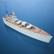 Modelo de barco de batalla 3D - HMS Nelson modelo 3d
