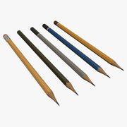 Conjunto de lápis 3d model