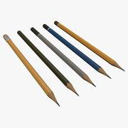 Zestaw ołówków 3d model