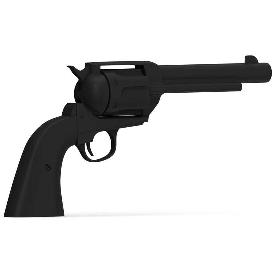Colt Peacemaker royalty-free 3d model - Preview no. 3
