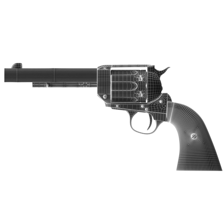 Colt Peacemaker royalty-free 3d model - Preview no. 10