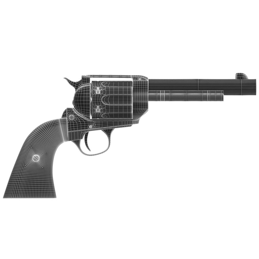 Colt Peacemaker royalty-free 3d model - Preview no. 8