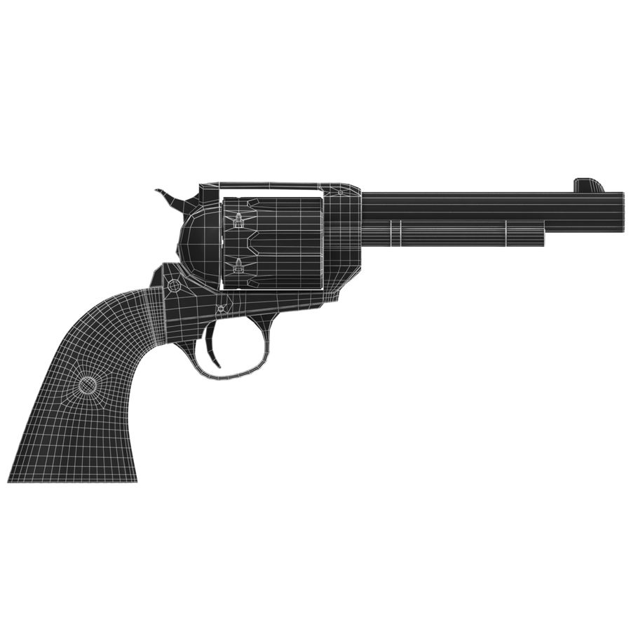 Colt Peacemaker royalty-free 3d model - Preview no. 7