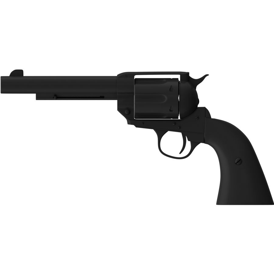 Colt Peacemaker royalty-free 3d model - Preview no. 5