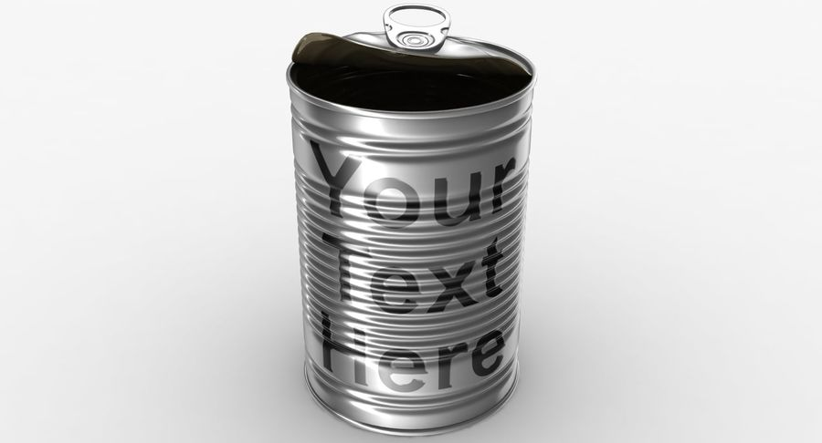 Open Tin Can royalty-free 3d model - Preview no. 9