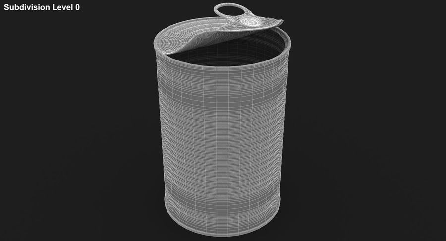 Open Tin Can royalty-free 3d model - Preview no. 18