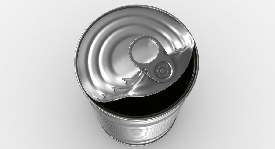 Open Tin Can royalty-free 3d model - Preview no. 7