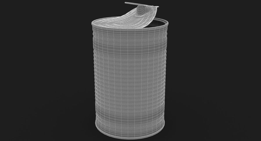 Open Tin Can royalty-free 3d model - Preview no. 14