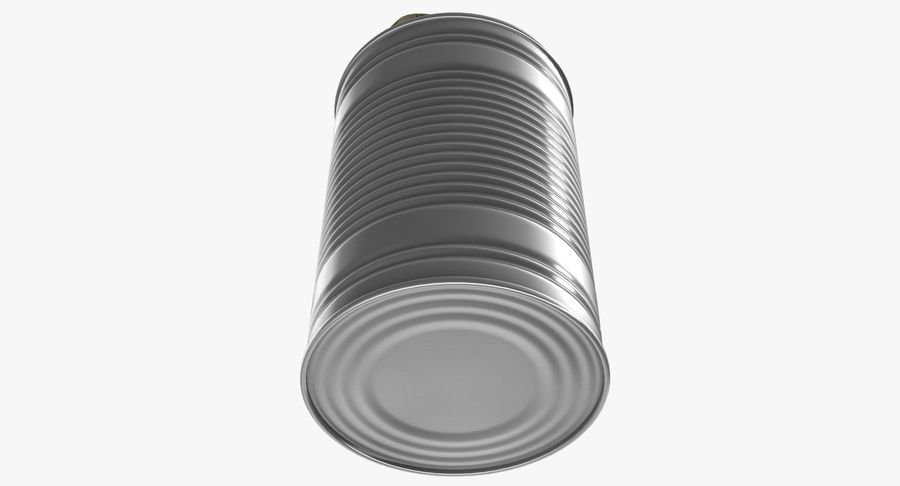 Open Tin Can royalty-free 3d model - Preview no. 11