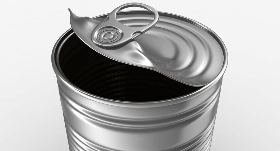 Open Tin Can royalty-free 3d model - Preview no. 4