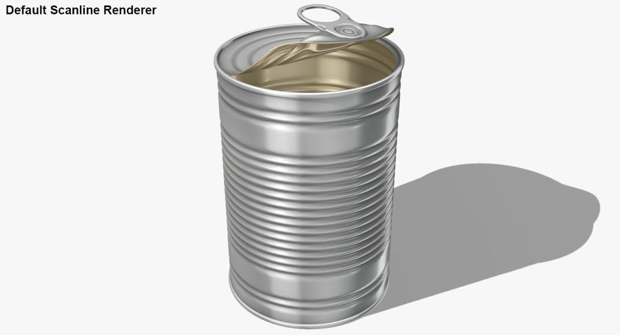 Open Tin Can royalty-free 3d model - Preview no. 20
